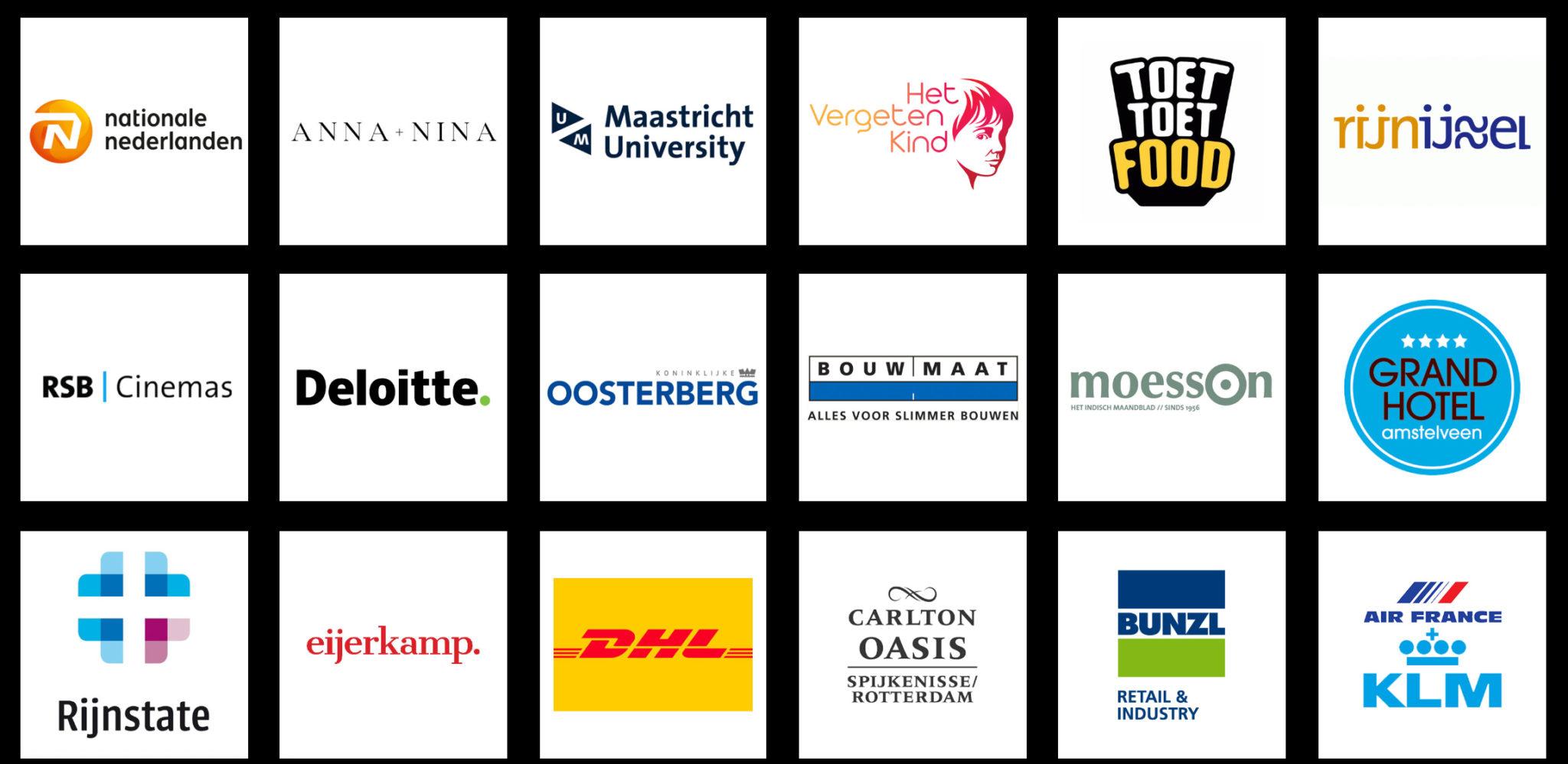 Overzicht van bedrijven waar Sateboss een Indische Sate catering voor heeft verzorgd